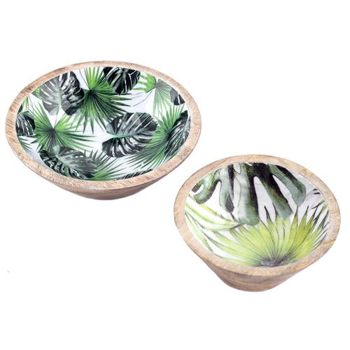 4er Set  Blätter Schale Teller Schale Obstschale ca 40cm