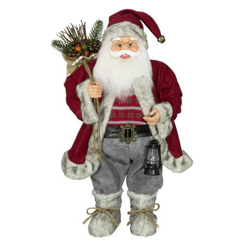 Laterne Santa Klaus 60cm Weihnachtsmann Nikolaus Weihnachten Weihnachtsdeko