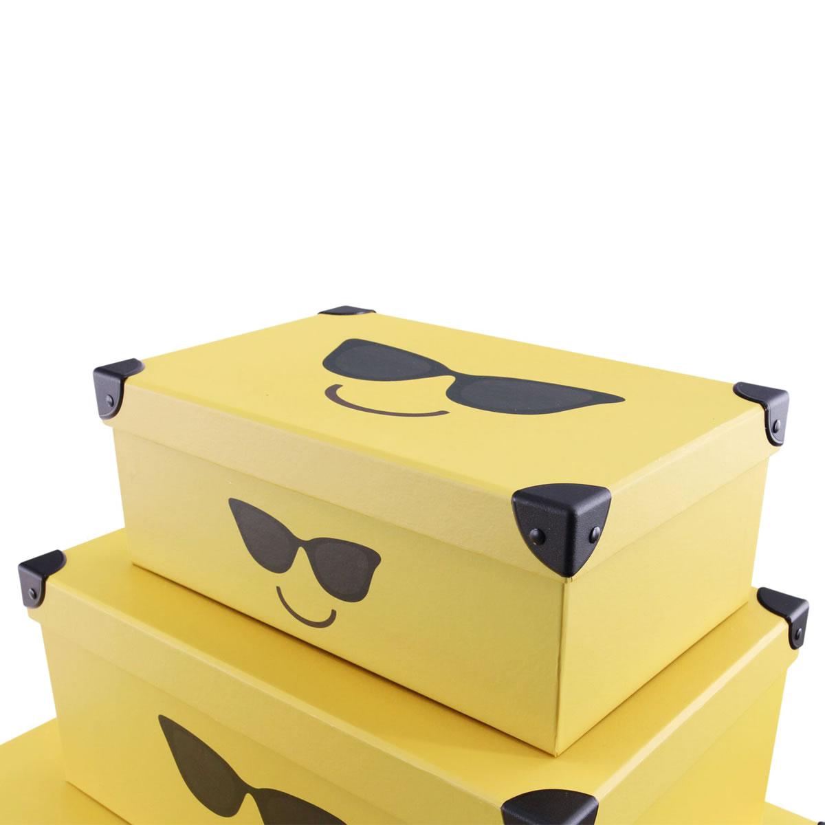 """Innovativ art decor 5'er Set Geschenkbox Emoticon """"Sonnenbrille  BN46"""