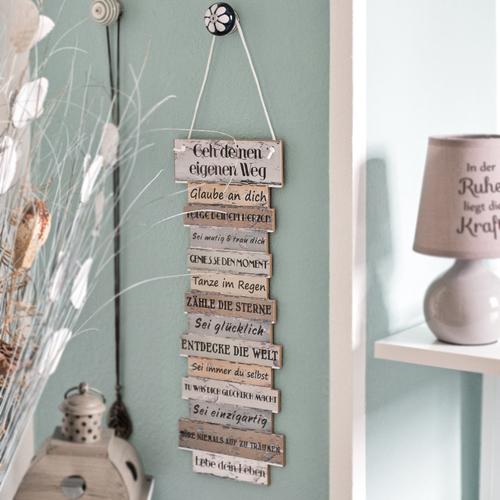 Bild Lebenseinstellung, Schild, Plankenschild Holzdeko, Tagesregeln ...