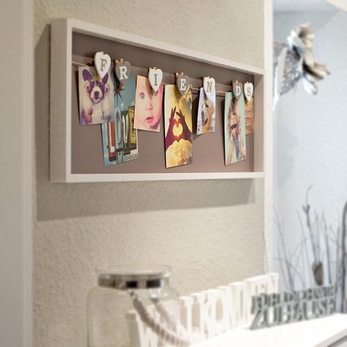 art decor bilderrahmen aus holz klammern friends freunde fotocollage fotorahmen