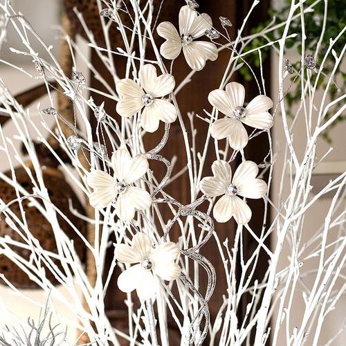 Blutenzweig Dekozweig Zweig Perlmutoptik Kunstblumen Dekoration