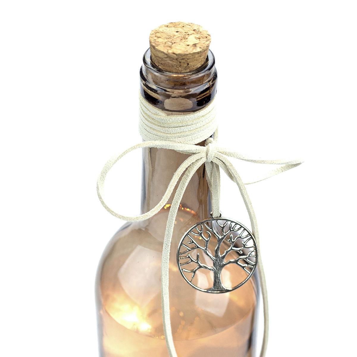 Flasche Mit Led Beleuchtung Dekoflasche Flaschenlicht Beige Hohe