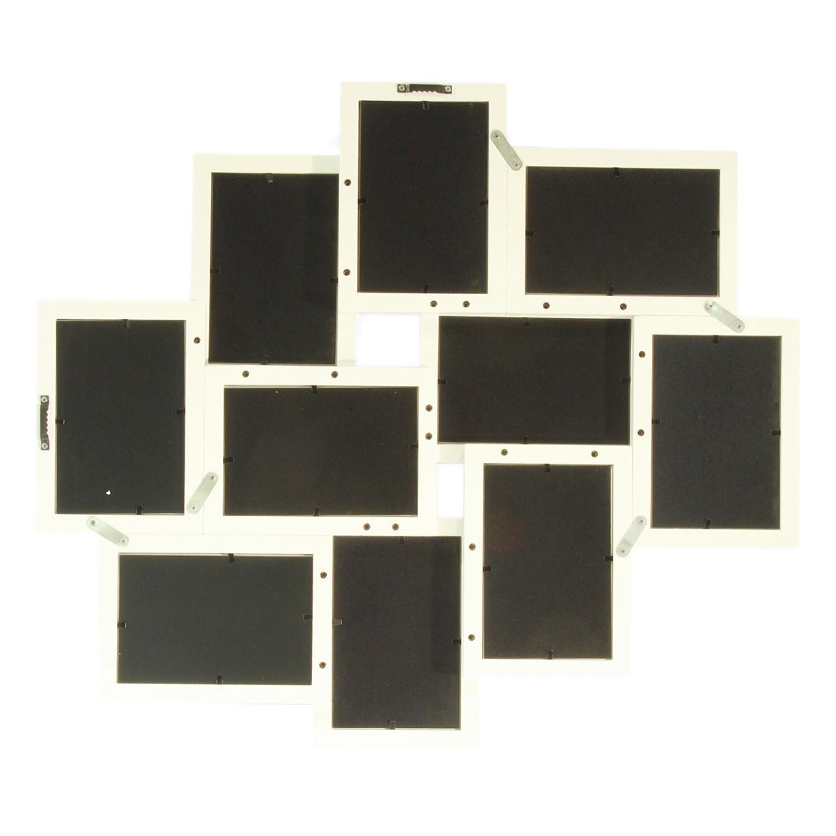 Art decor Fotorahmen, Bilderrahmen, Fotocollage aus Holz für 10 ...