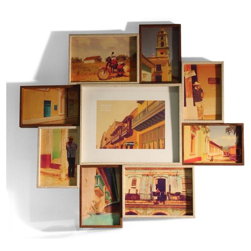 art decor fotorahmen, bilderrahmen, fotocollage aus holz für 9,