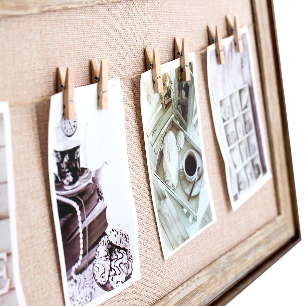 fotorahmen mit leine inkl 8 klammern fotocollage. Black Bedroom Furniture Sets. Home Design Ideas