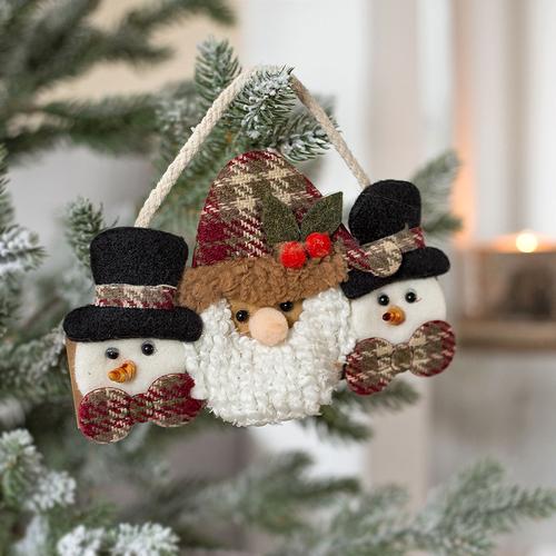 Weihnachtsdeko Für Die Tür.Hänger Weihnachtsmann Schneemann Weihnachtsdekoration Tür Wandschmuck