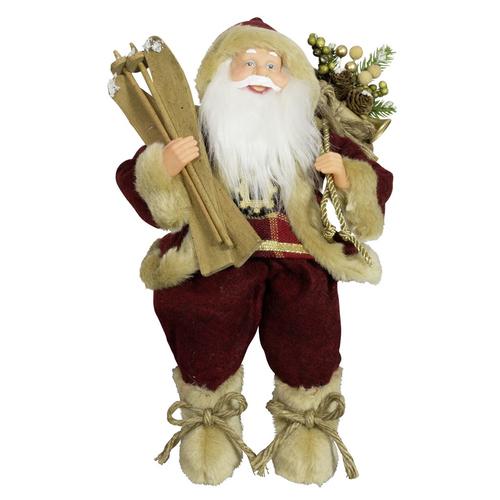 6 verschiedene Weihnachtsmänner aufhängen sitzen 18cm