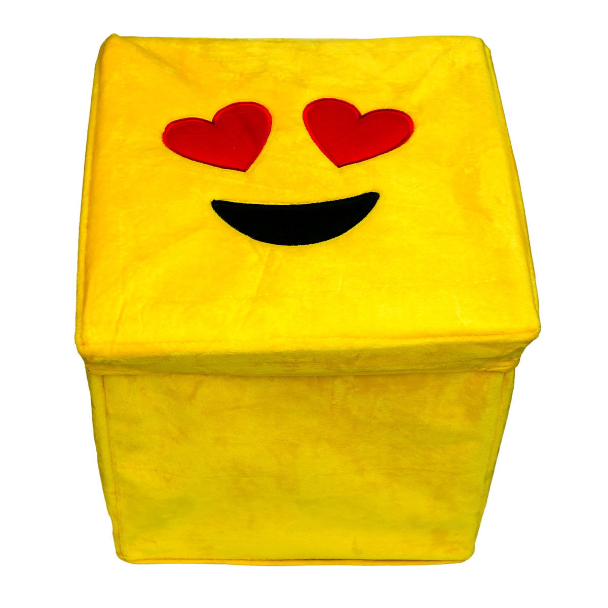 Art Decor Klapphocker Emoticon Plschbox Smiley Mit Herzaugen
