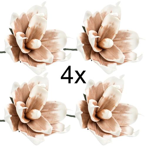 Deko Blumen kunstblume blüte schaumblüte foam blume braun kunstblumen deko
