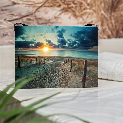 Led Bild Strand Leuchtbild Wandbild Leinwand 15x20 Bilder