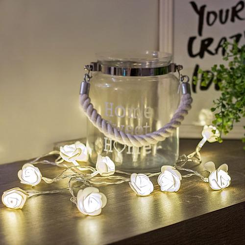 Led Lichterkette Rosen Weiss Hochzeit Tischdeko Led Beleuchtung
