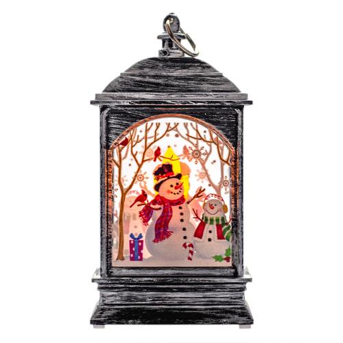 Eine LED Laterne Schneemann Tischdeko Dekoration Weihnachtsdekoration