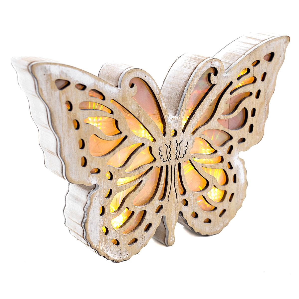 LED Schmetterling weiß, Dekofigur, Dekoobjekt, LED Licht ...