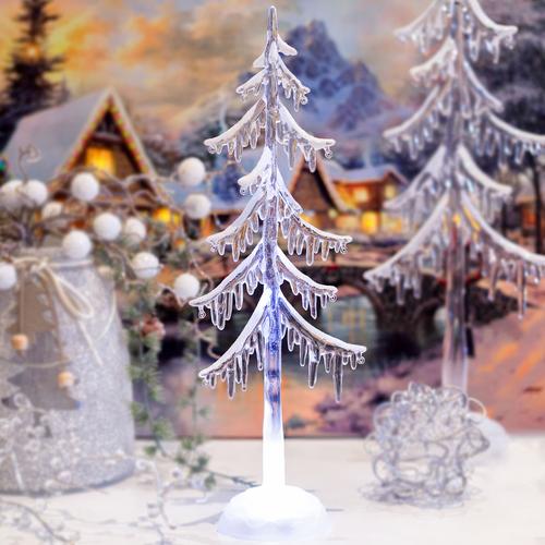 Led Weihnachtsbeleuchtung Baum.Led Winterbaum Eisblau Leuchtender Led Winterbaum Höhe Ca 35cm