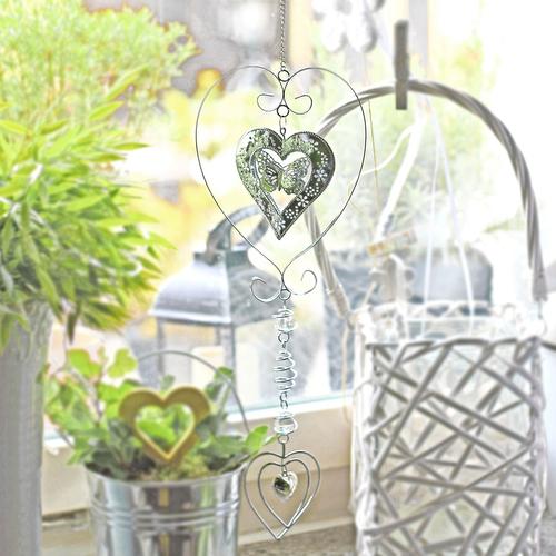 Metallhänger Herz Fensterdekoration Dekohänger Metall Anhänger