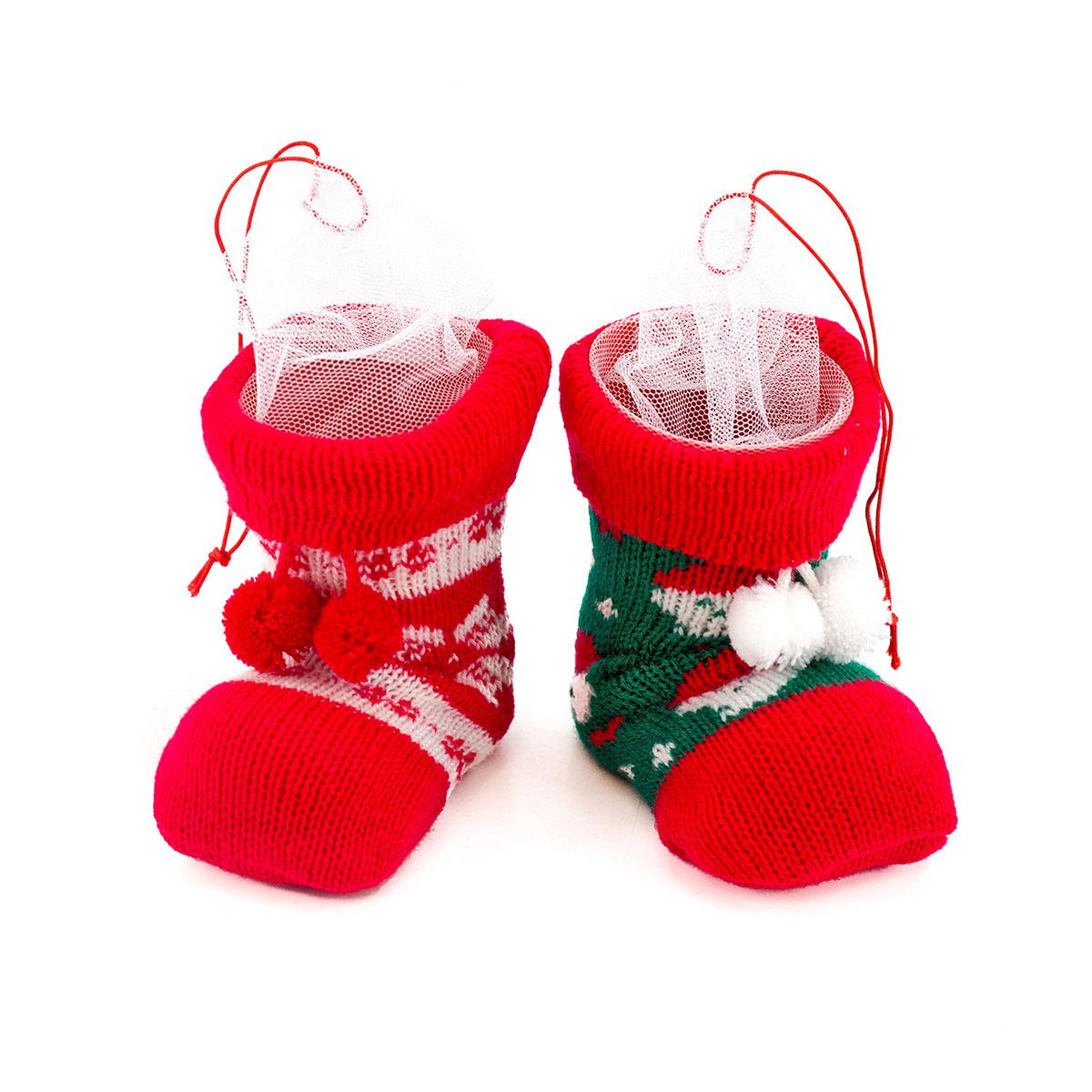 Nikolausstiefel, 2er Set, Weihnachts- Socke / Strumpf, befüllbar ...