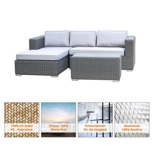 Polyrattan Gartenmöbel Lounge Set, Sitzgruppe, In/Outdoor, mit ...
