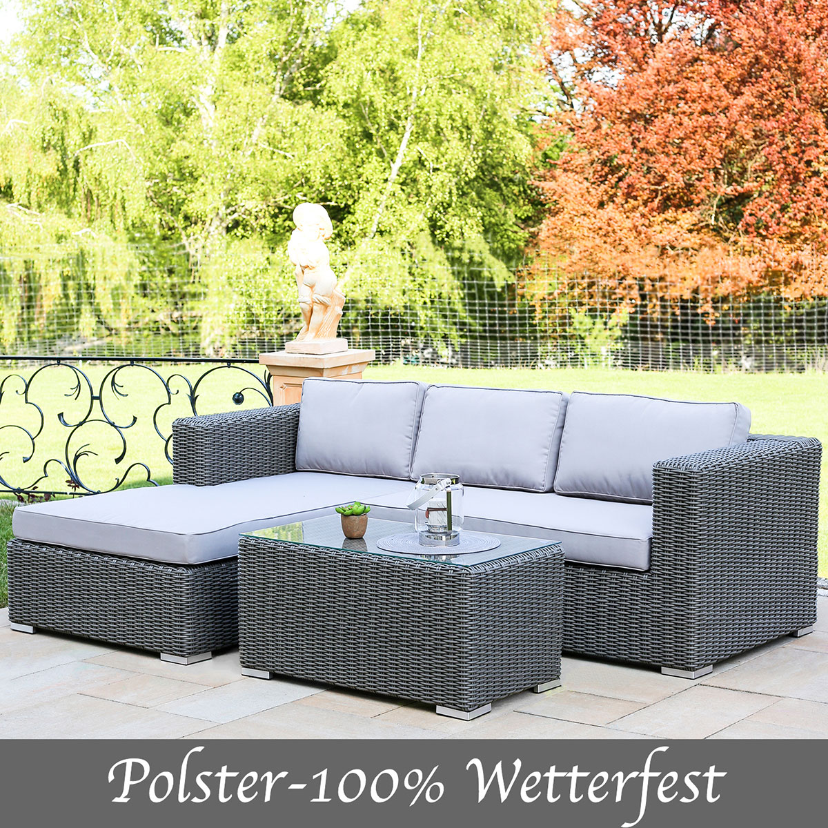 Polyrattan Gartenmöbel Lounge - Lounge Möbel Eckgruppe, Lounge Set ...