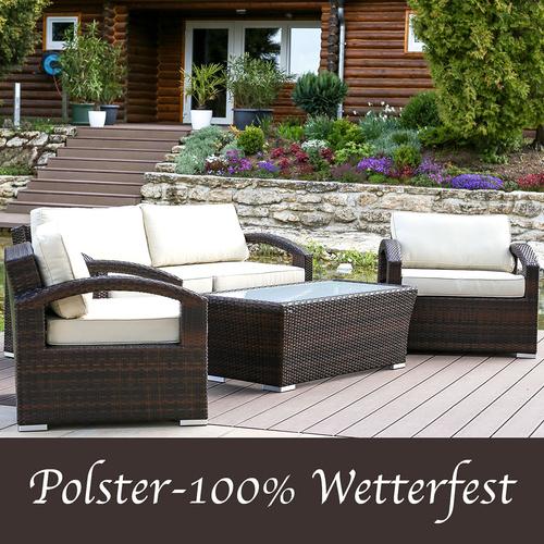Polyrattan Gartenmobel Lounge Set 2 In Outdoor Sitzgruppe Kissen