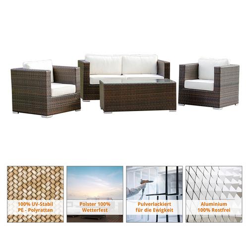 Polyrattan Gartenmöbel Lounge - Lounge Möbel, Lounge Set, Polyrattan ...