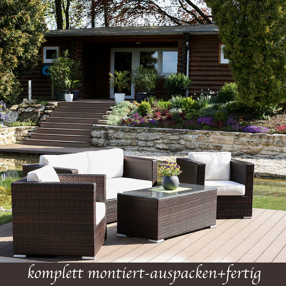 Amazing Weitere Weitere With Lounge Set Polyrattan