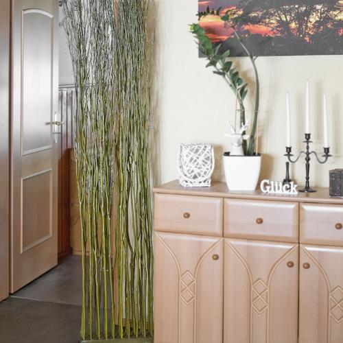 Produktabbildung Art Decor Raumtrenner Weide, Sichtschutz, Natur Dekoration,  Trennwand, Paravent, Grün