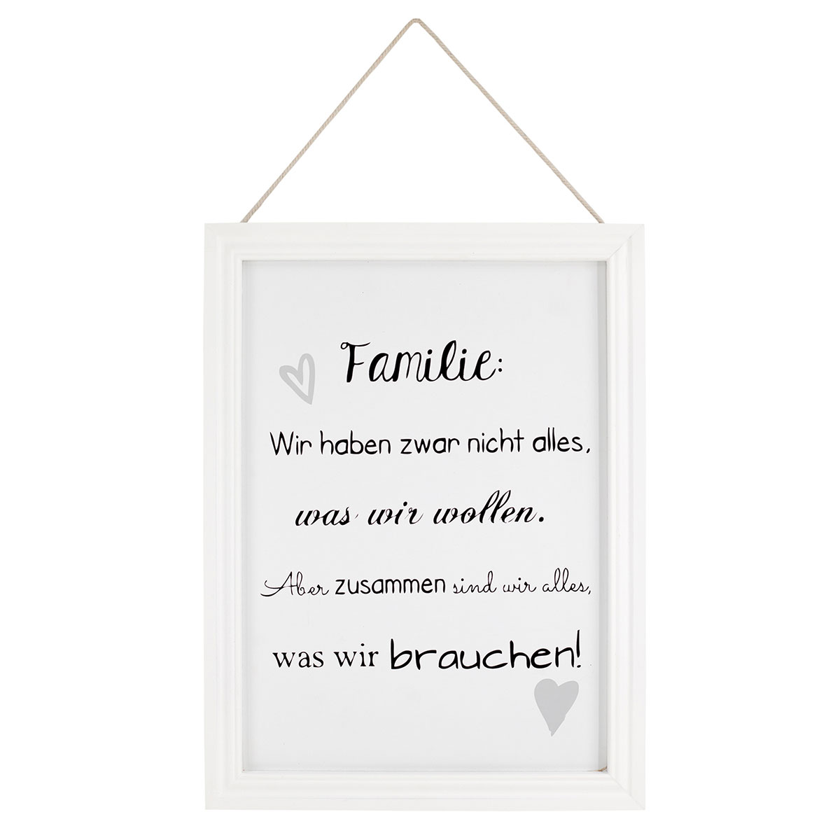 schild mit spruch familie bilderrahmen fotorahmen mit spruch wanddekoration wandbild. Black Bedroom Furniture Sets. Home Design Ideas