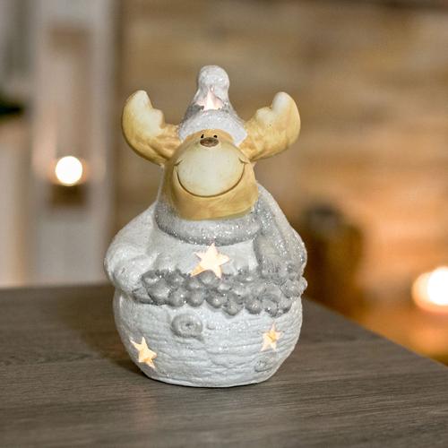 Teelichthalter Elch Windlicht Weihnachten Windlicht Elch
