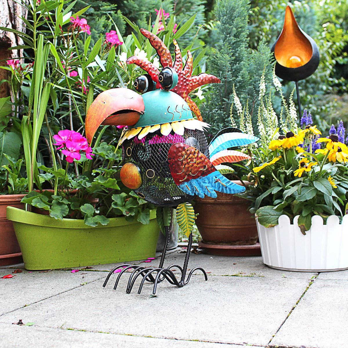 Teelichthalter Papagei 50cm hoch ca Windlicht