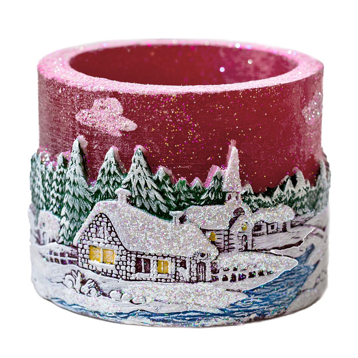 Teelichtzylinder Winterdorf Teelichthalter Weihnachten Windlicht