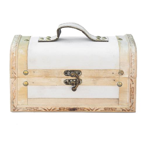 Truhe Holzbox Holztruhe Schatztruhe Weiss Antike Truhe Kiste