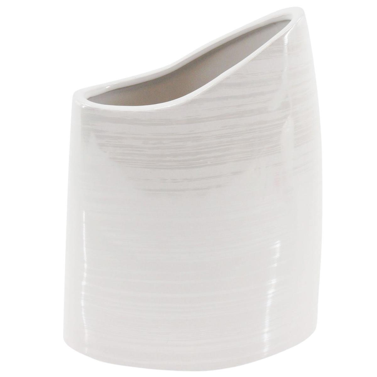 art decor Vase Halbmond, Blumenvase, Keramik, weiß ...
