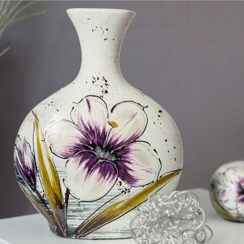 Vase Lilie Blumenvase Bauchig Keramikvase Hohe Ca 28cm