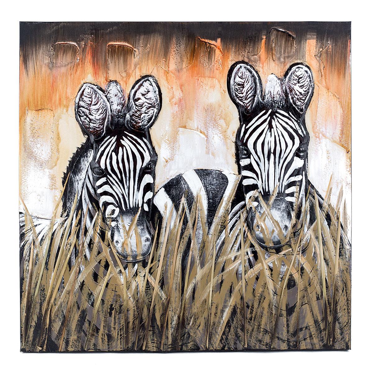 Wandbild Zebra, Wanddekoration, Raumdekoration, Leinwandbild ...