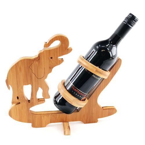 Design Elefant  Weinflaschenhalter Weinständer Flaschenständer Holz Weinhalter