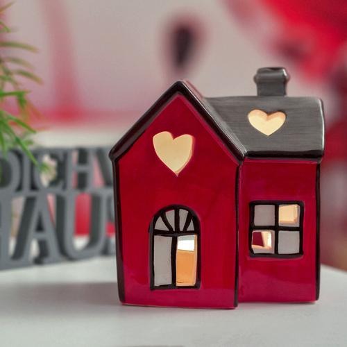 Windlicht Haus Laterne Lichthaus Teelichthalter Weihnachten