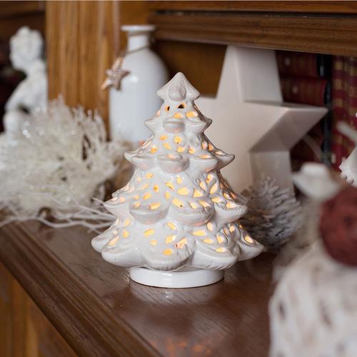 Weihnachtsdeko Günstig Auf Rechnung.Windlicht Weihnachtsbaum Porzellan Weiss Weihnachtsdeko Kerzenhalter Teelichthalter Höhe Ca 17cm