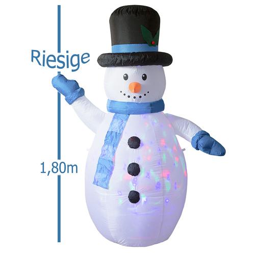 Weihnachtsbeleuchtung Bunt.Aufblasbarer Schneemann Mit Led Bunt Weihnachtsdekoration