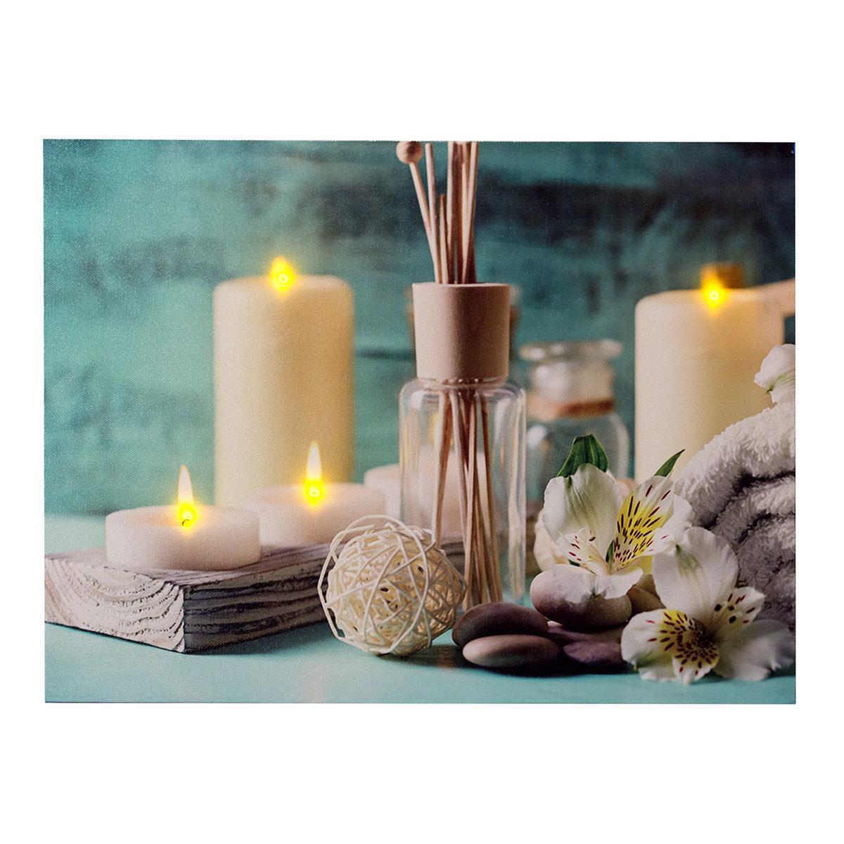 dekoratives LED Bild, Leinwandbild - Wellness/Spa, AN/Aus-Schalter ...