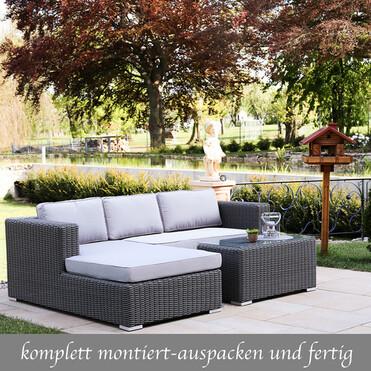 Terrassenmöbel lounge wetterfest  Polyrattan Gartenmöbel Lounge - Lounge Möbel Eckgruppe, Lounge Set ...