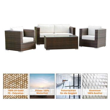 Produktabbildung Art Decor Polyrattan Gartenmöbel Lounge   Lounge Möbel,  Lounge Set, Polyrattan Rattan Garnitur